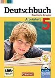 Deutschbuch - Erweiterte Ausgabe: 5. Schuljahr - Arbeitsheft mit Lösungen und Übungs-CD-ROM