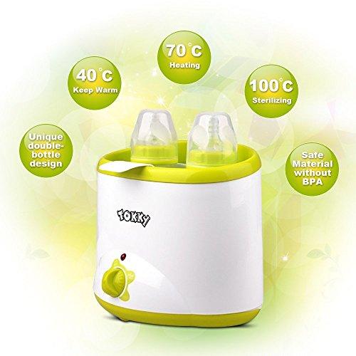 Calientabiberones TOKKY® Calienta Biberones y Estelizador para Calentar y Mantener Los Alimentos...