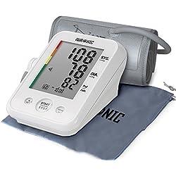 Duronic BPM150 Tensiomètre électronique pour bras avec brassard ajustable 22-42 cm - Mesure automatique de la tension artérielle - Certifié Médicalement - Large écran LCD