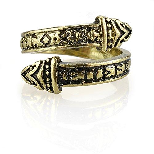URBANTIMBER Wikinger Ring Nidhogg - Silber oder Bronze/Gold - Bronze Ring