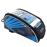 Denret3rgu Support de téléphone à écran Tactile vélo vélo Avant Tube Cadre Sac de Rangement de vélo - Bleu