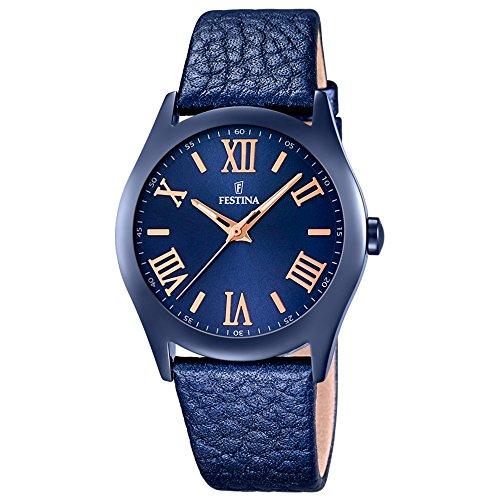Festina Women's Watch Boyfriend Collection Analogue Quartz Leather F166495