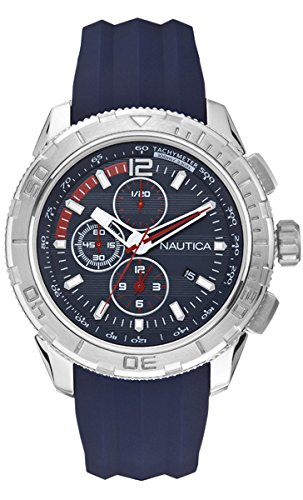 Nautica a18724g – Wristwatch men's, silicone, Blue