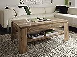Dreams4Home Couchtisch ' Poem' Wohnzimmer Wohnzimmermöbel Sofatisch Beistelltisch in verschiedenen Farbausführungen Holznachbildung, Farbe:Satin Nußbaum
