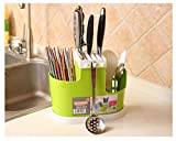#7: Mosquick Knife Holder,Cutlery Holder With Removable Self Draining Tray(Mixed Color)