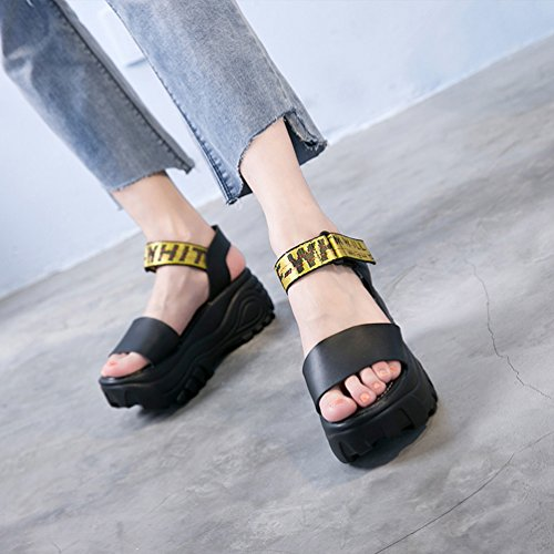 Damen Schuhe Plateau Keilabsatz/ Wedge Keilabsatz Schnalle Keilsandaletten Offene Sandalen / Sandaletten Schwarz