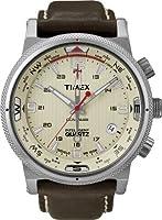 Reloj Timex T2N725D7 de cuarzo para hombre con correa de piel, color marrón de Timex Intelligent Quartz