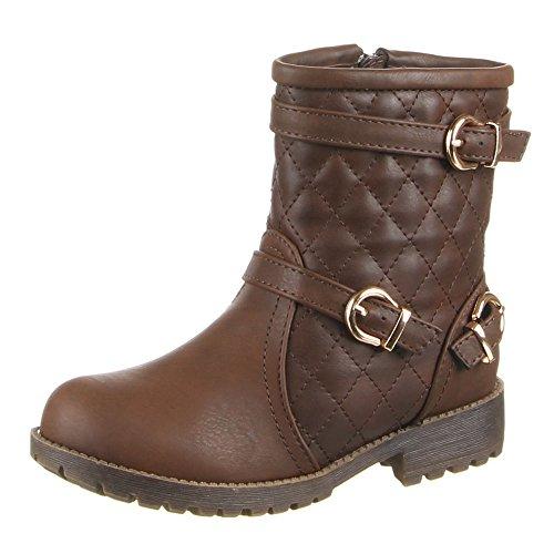 868–2 chaussures bottes femme Marron - Braun (24-29)