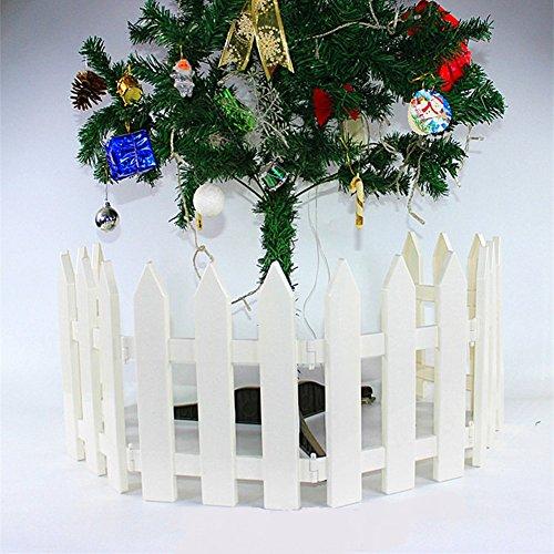 ieve 4 pcs Color blanco Plástico valla árbol de Navidad boda fiesta...