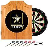 United States Army Wood Dart Cabinet Set