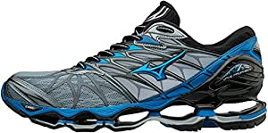 Mizuno Men's Wave Prophecy 7 Running Shoes, Grey (Tradewinds/Divablue/Black 24), 10 UK