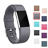 I-SMILE Silicone Bands for Fitbit Charge 2, Adjustable Wristband with Secure Buckle
