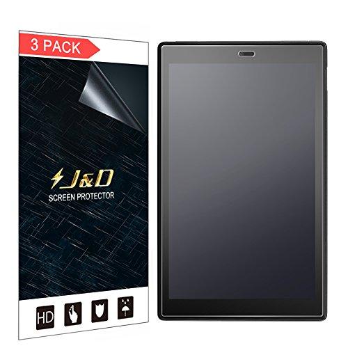 J und D Kompatibel für 3er Packung Amazon All-New Fire HD 10 Tablet 2017 Bildschirmschutzfolie, [Antireflektierend] [Anti Fingerabdruck] [Nicht Ganze Deckung] Matte Folie Schutzschild Bildschirmschutzfolie