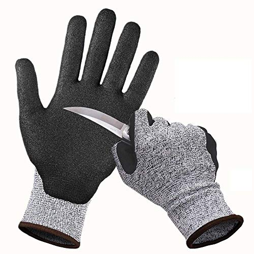 YAWJ Schnittfest Handschuhe Level 5 Schutz Küche Handschuh Sicherheitshandschuhe Arbeitshandschuhe für Schneiden (Farbe : Schwarz, größe : L)