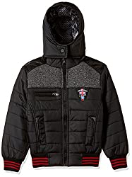 Fort Collins Boys Regular Fit Synthetic Jacket (76124_Black_26 (6 - 7 years))