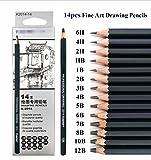 Beste Qualität 14/Set 12B 10B 8B 7B 6B 5B 4B 3B 2B B HB 2H 4H 6H Bleistifte Graphitstifte Professionelle Bleistift Set für Zeichnen