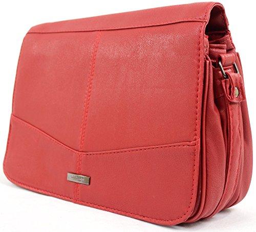 Donna/donna/borsa a tracolla in pelle sintetica Red