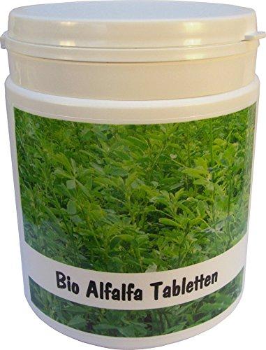 SANOS Bio Alfalfa Tabletten 500g / 1250 Tabletten aus eigenem Anbau frisch vom Bodensee -