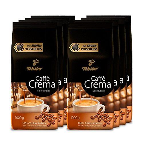 Tchibo Caffè Crema Vollmundig ganze Bohne, 8 kg (8 x 1 kg)