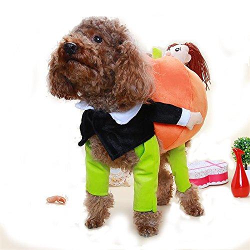Pingxia Hunde Bekleidung Warm Hund Katzen Kleidung Winter Komisch Kürbis Kostüme Halloween Cosplay (Size (Kostüme Komisch Santa)