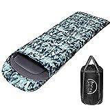 LATTCURE Sac de Couchage Adulte Sleeping Bag Extérieur Professionnel Sac de Couchage Duvet Grand Froid Imperméable pour Camping Excursion Randonnée Compact Épais Chaud (Vert)
