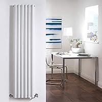 Hudson Reed Revive Radiador Calefactor Decorativo De Diseño Vertical En Acero Blanco - 1600mm x 354mm