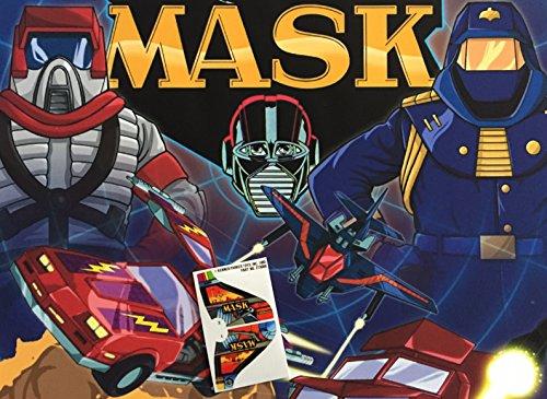 Maske Vintage Repro die cut sticker/aufkleber/Etiketten für Kenner m.a.s.k Raven (Raven Maske)