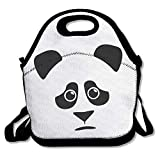 Lunch Bag Brave Panda Lunch Tote Lunch Box for Women Men Kids with Adjustable Strap