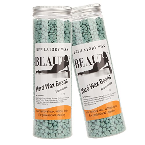 Bonjanvye Hair Removal for Men Hard Wax Strip Free Hard Wax Beans 800g Marine