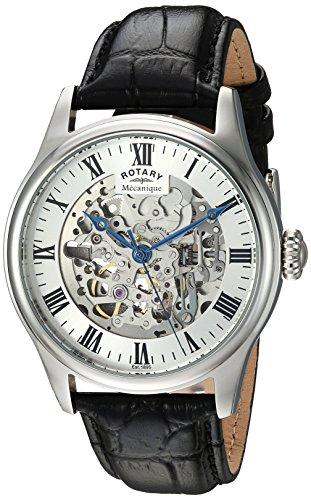 Rotary GS02940/06 - Reloj de Pulsera Hombre, Color Negro