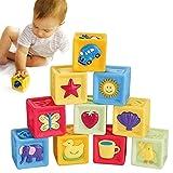 Rokoo Weiche Baby Bausteine Spielzeug 10 Teile / satz Kinder Spielzeug Infant Weichen Bausteine Cube Squeeze