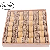 TOYMYTOY 24pcs DIY Natural Jute Twine Art Crafts Hessian Rope Packing String for Industrial Gardening Applications