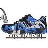 SUADEEX Damen Herren Sicherheitsschuhe Sportlich Trekking Wanderhalbschuhe Stahlkappe Arbeitsschuhe Hiking Schuhe Traillaufschuhe, Blau, 43 EU