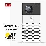 CameraPlus® INSTA360 360 Grad Kompaktkamera/Vollsphärenkamera (Full-HD-Video, 4K,8-Megapixel-CMOS) schwarz
