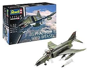 Revell Revell-F-4G Maqueta F-4G Phantom II Wild Weasel, Kit Modello, Escala 1:32 (4959) (04959), 59,7 cm de Largo (