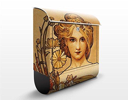 Briefkasten mit Zeitungsrolle Miss Spring 46cm x 39cm