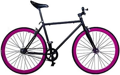 Fixie Helliot Tribeca H21 - Bicicleta fixie, cuadro de acero, frenos V-Brake, horquilla acero y ruedas de 26