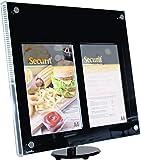 LED Securit-Bacheca espositiva per esterni per Menu/informazioni, in acrilico, 2 Pezzi