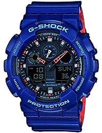Casio G-SHOCK Homme Analogique-Digital Quartz Montre avec Bracelet en Plastique GA-100L-2AER
