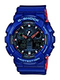 Casio G-Shock Analog-Digital Herrenarmbanduhr GA-100L blau, 20 BAR