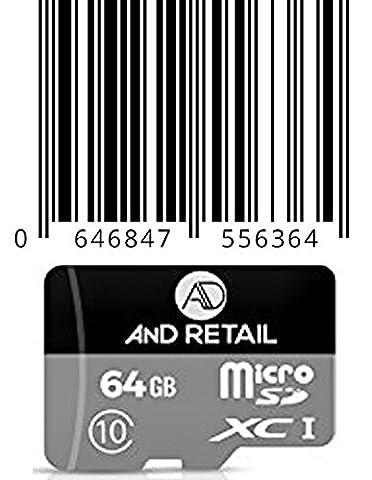 Marke neue 64GB Micro-SD Class 10SDXC Speicherkarte mit Adapter *... die High Performance Wahl für digitale Bildaufnahme * mit anderen Geräten mit einem Full Size SD Memory Card Slot... mit eingebauten Sicherheitsmerkmalen. Sie ermöglicht es den Daunen Laden, Speichern und Spielen InhaltenGeeignet für Digitalkameras * Handys * Samsung Galaxy S3LG Nokia GPS MP3-Player und PDAs.... die Liste geht
