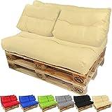 PROHEIM Cojines para palets Lounge - Cree un Elegante sofá Acolchado en Palet - Repelentes al Agua Ideal para Exteriores -...