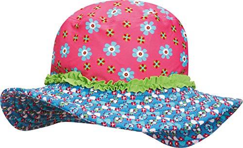 Playshoes Mädchen Mütze Sonnenhut, Bademütze Blumen, UV-Schutz nach Standard 801 und Oeko-Tex Standard 100, Gr. Small (Herstellergröße: 51cm), Mehrfarbig (original 900)