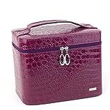 GBT Doppia pelle caso spogliatoio vanità , purple