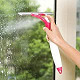 Generic Wiper with Water Sprayer Tool, for Bathroom Tiles, Washroom, Kitchen, Door, Floor Car (Multipurpose use - Assorted Colour)