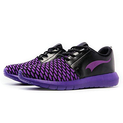 Onemix all'aperto Air Uomo Donna Scarpe da Ginnastica Corsa Sportive Running Sneakers Fitness Interior Casual all'Aperto Viola Nero
