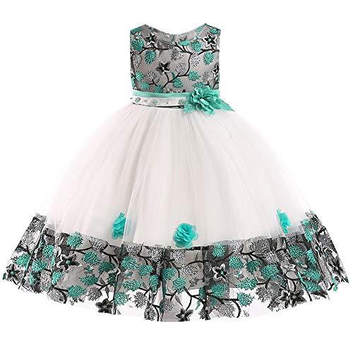 Huhu833 Baby Kleid Blumen Baby Mädchen Prinzessin Kleid Brautjungfer Festzug Kleid Geburtstag Party...