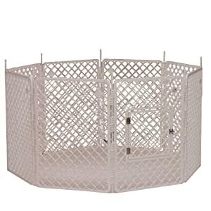 Chien Cage, Parcs d'extérieur, Parc enclos, Chenil blanc - H908