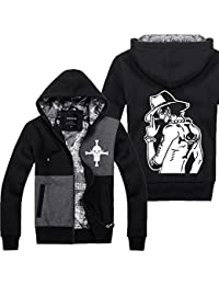 Portgas D Ace Hoodie Cosplay Costume Cool White Beard Zip Up Automne & Hiver Capuche Vêtements