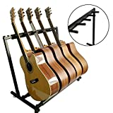 AllRight Support Guitare Multiple Support Pour 5 Guitares